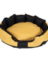 Dog Bed Yellow and Black Pet Basket Mat Cushion