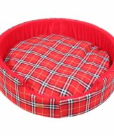 Dog Bed Designer Check (red Color)