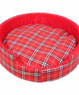Dog Bed Designer Check (red Color)