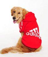 Dog Clothes adidog pet hoodies (red)