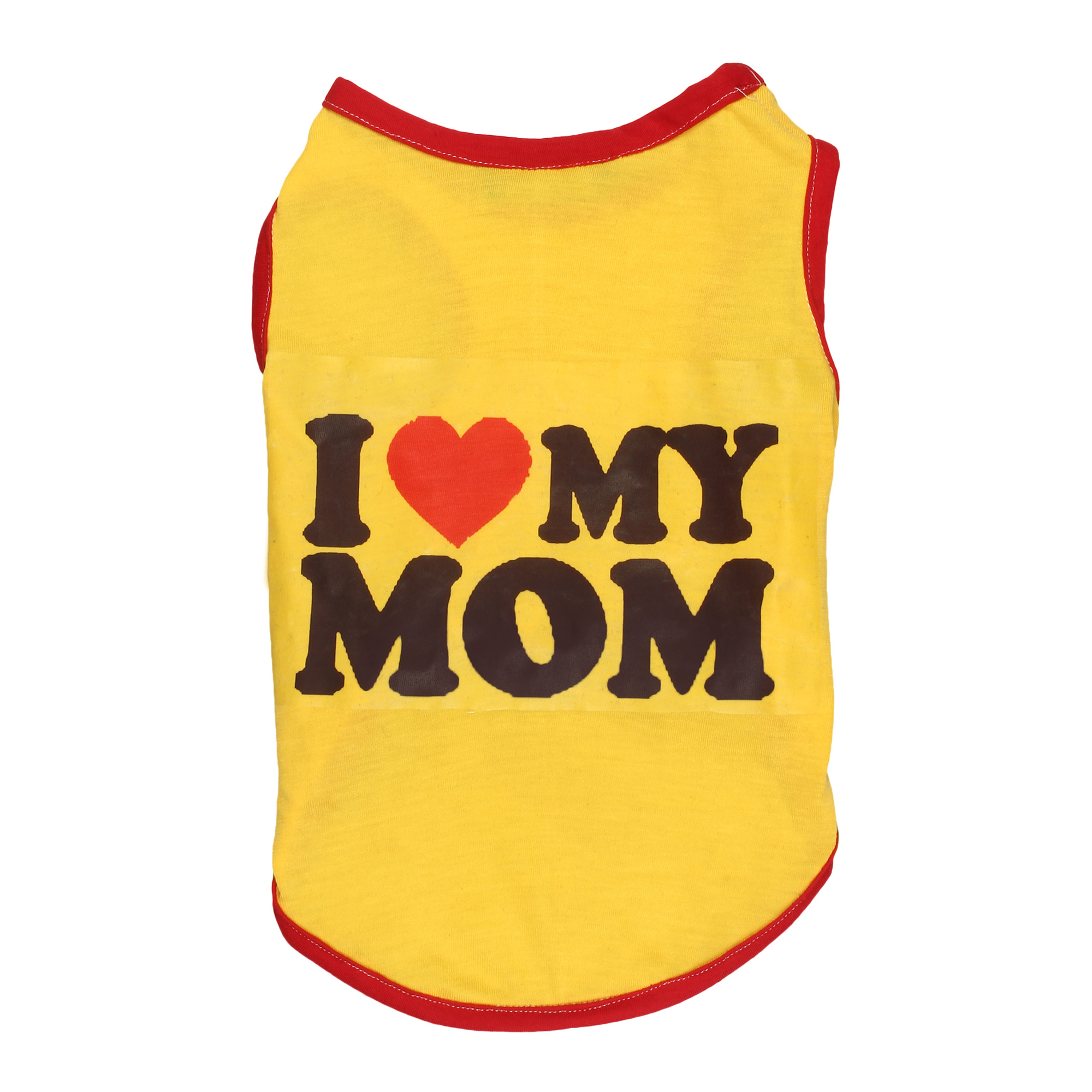 douge couture I Love MOM Dog yellow T-Shirt