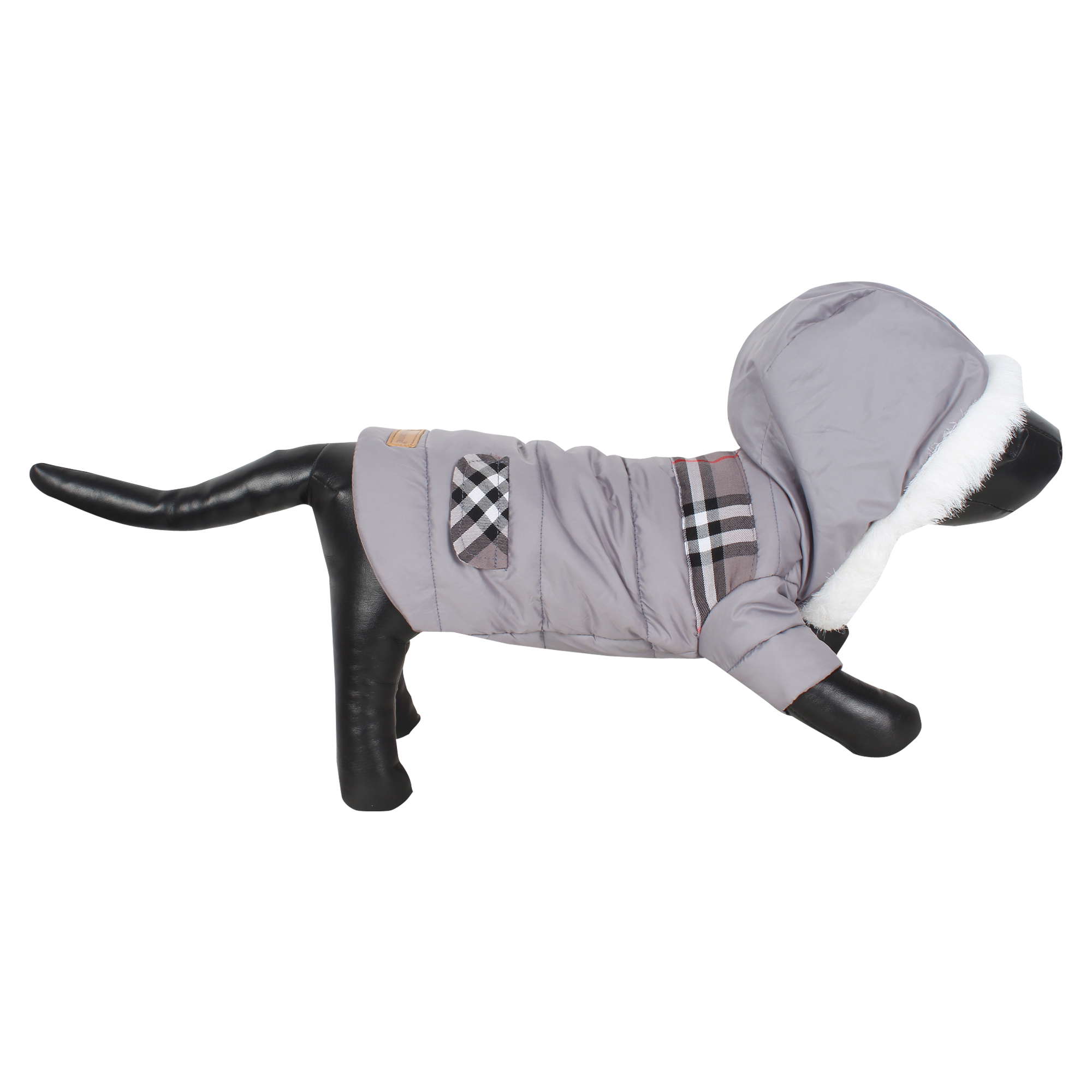 DOUGE COUTURE CLASSIC DOG ANXIETY JACKT GREY COLOR 1