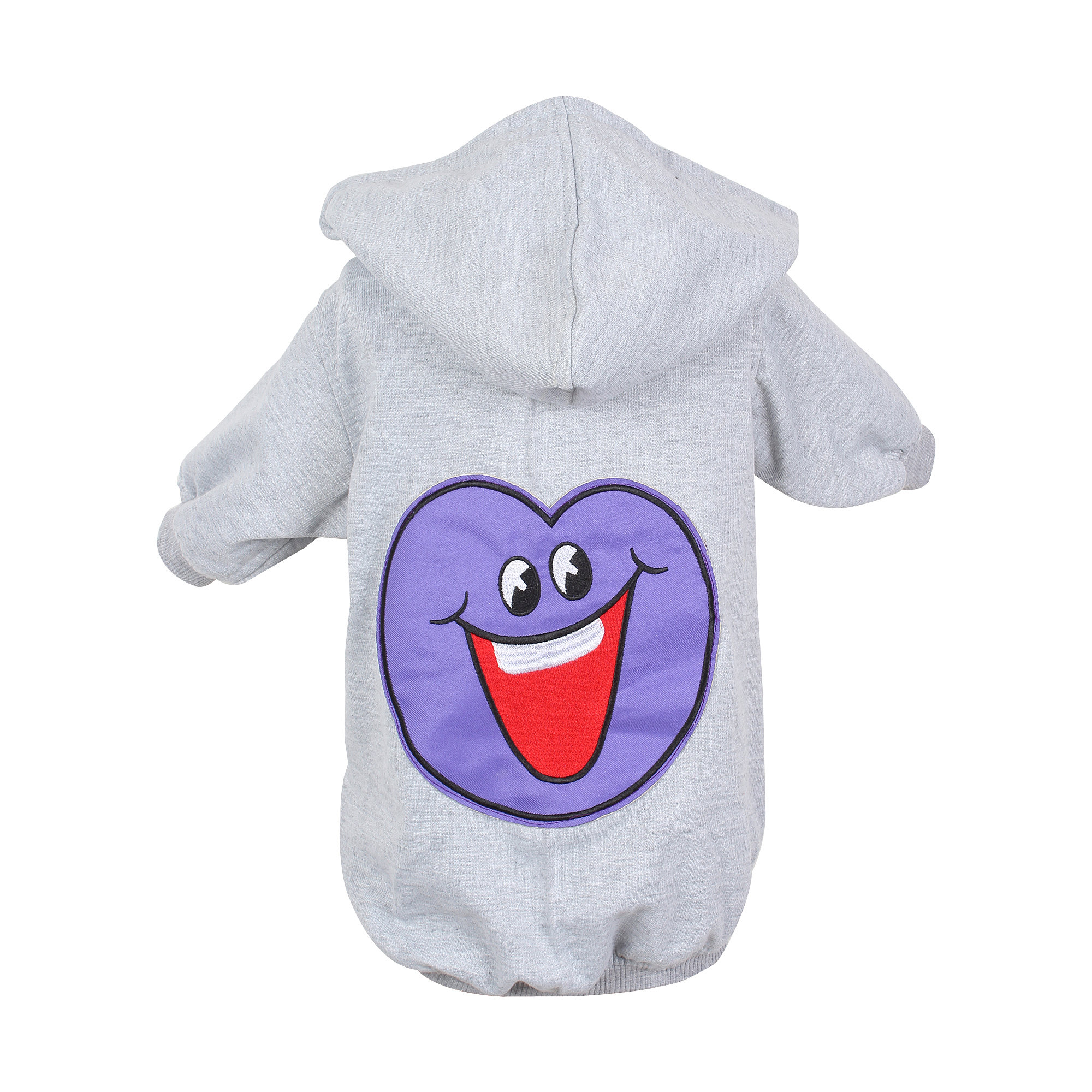 DOUGE COUTURE WINTER STYLISH PATCH HOODIE GREY TEES