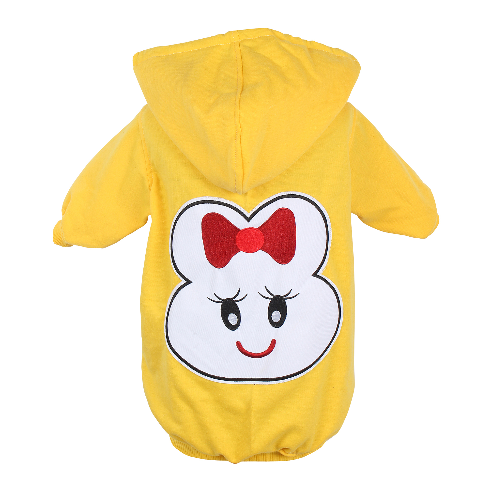DOUGE COUTURE WINTER STYLISH PATCH HOODIE YELLOW TEES