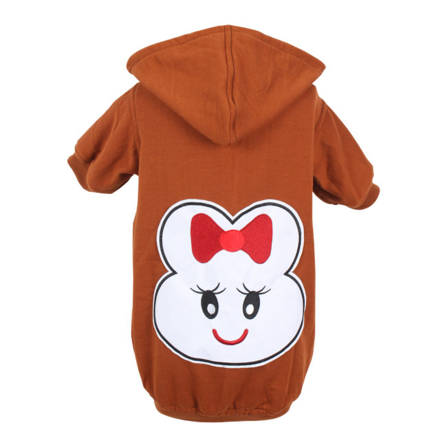 DOUGE COUTURE WINTER STYLISH PATCH HOODIE BROWN TEES