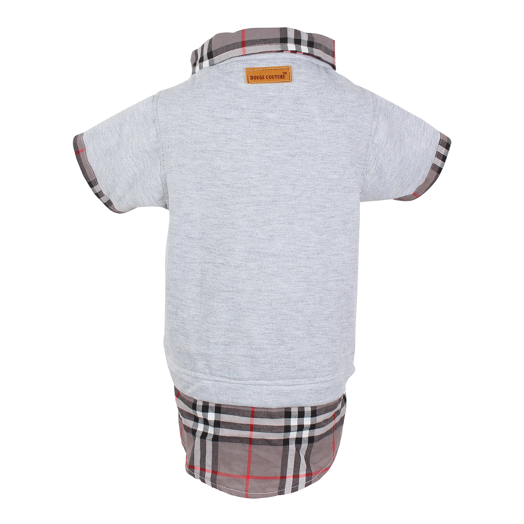 DOUGE COUTURE CHECK WINTEER GREY SHIRT