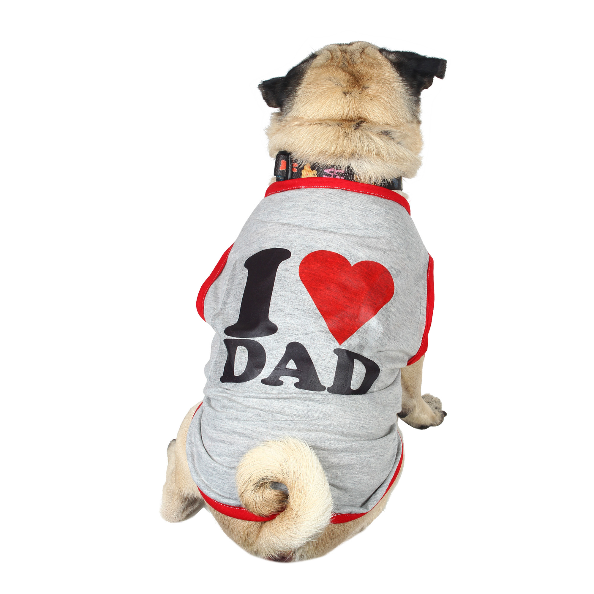 douge couture I Love MOM Dog grey T-Shirt