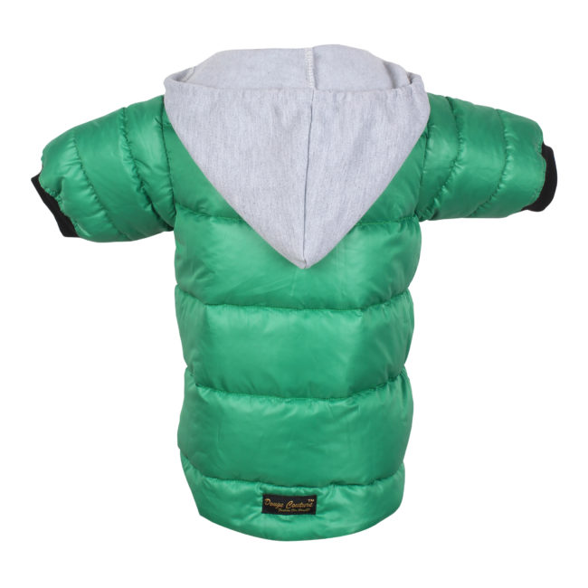 DOUGE COUTURE PUFF HOODIE WARM WINTER JACKT GREEN COLOR