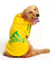 douge couture adidog dog hoodies dog clothes yellow