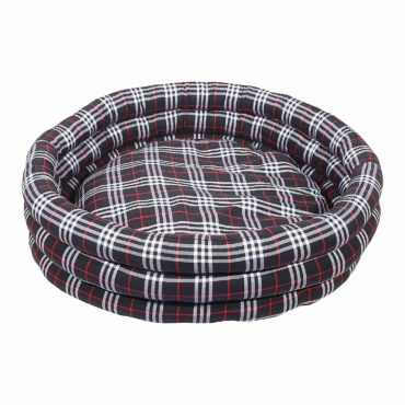 Douge Couture Black Round Dog Bed 1