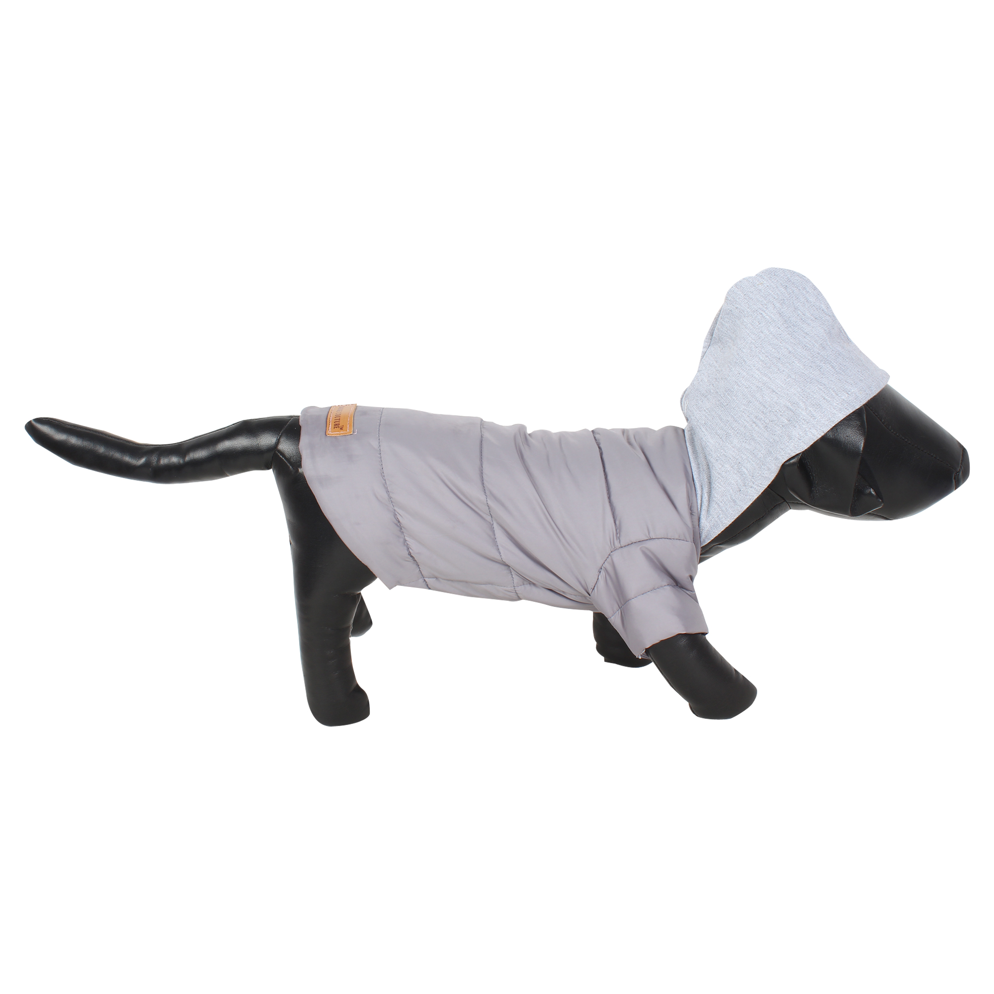 DOUGE COUTURE DOG PUFF HOODIE WARM WINTER JACKT GREY COLOR