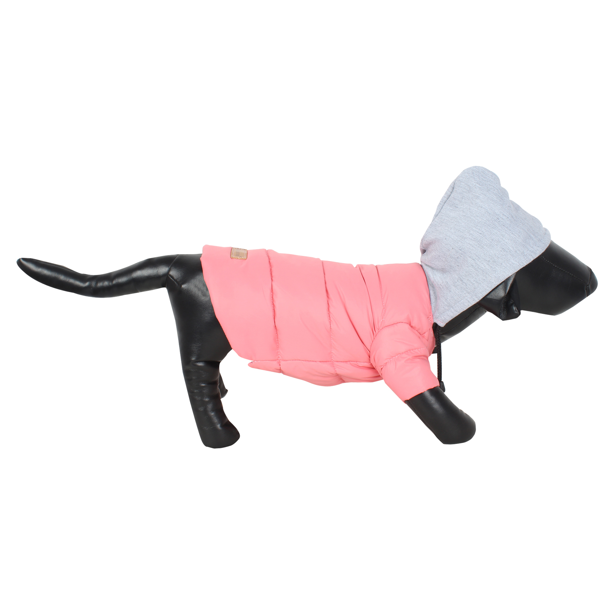 DOUGE COUTURE DOG PUFF HOODIE WARM WINTER JACKT PINK COLOR