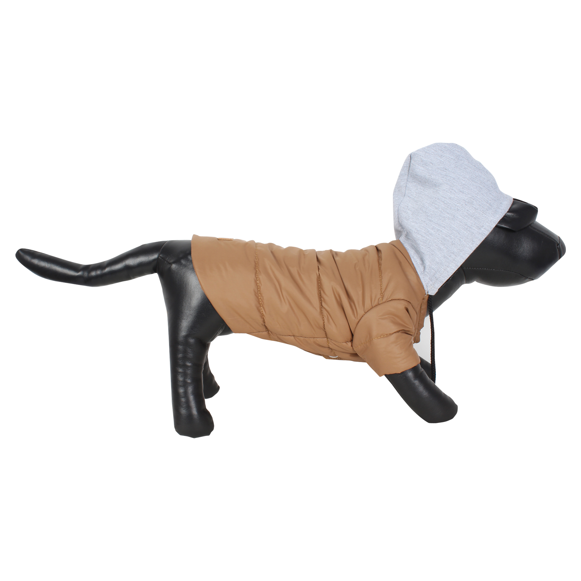 DOUGE COUTURE DOG PUFF HOODIE WARM WINTER JACKT BROWN COLOR