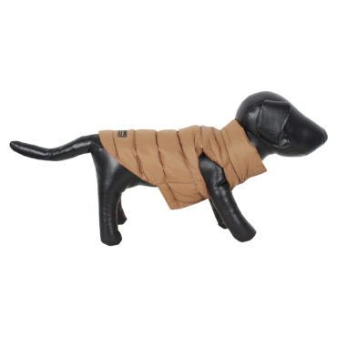 DOUGE COUTURE DOG COLD WEATHER PUFF COAT BROWN 1