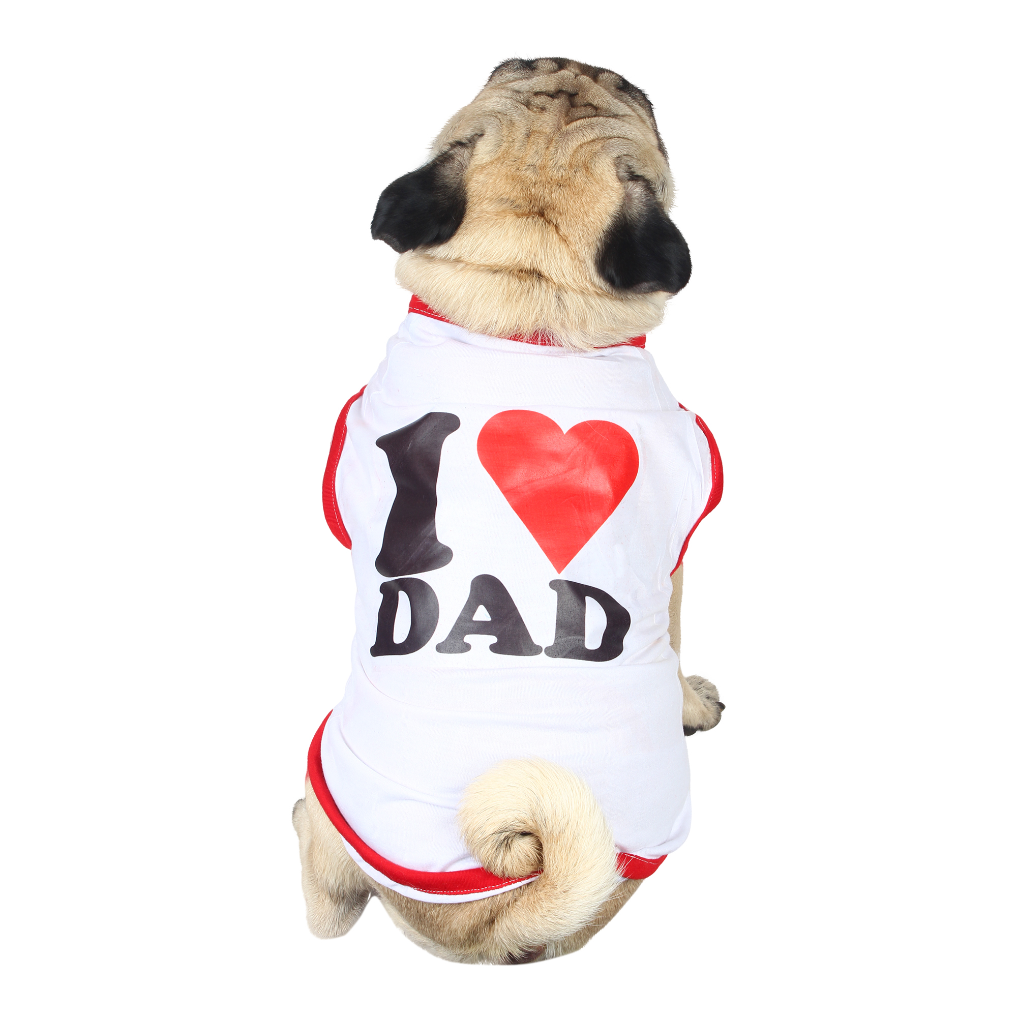 douge couture I Love MOM Dog white T-Shirt