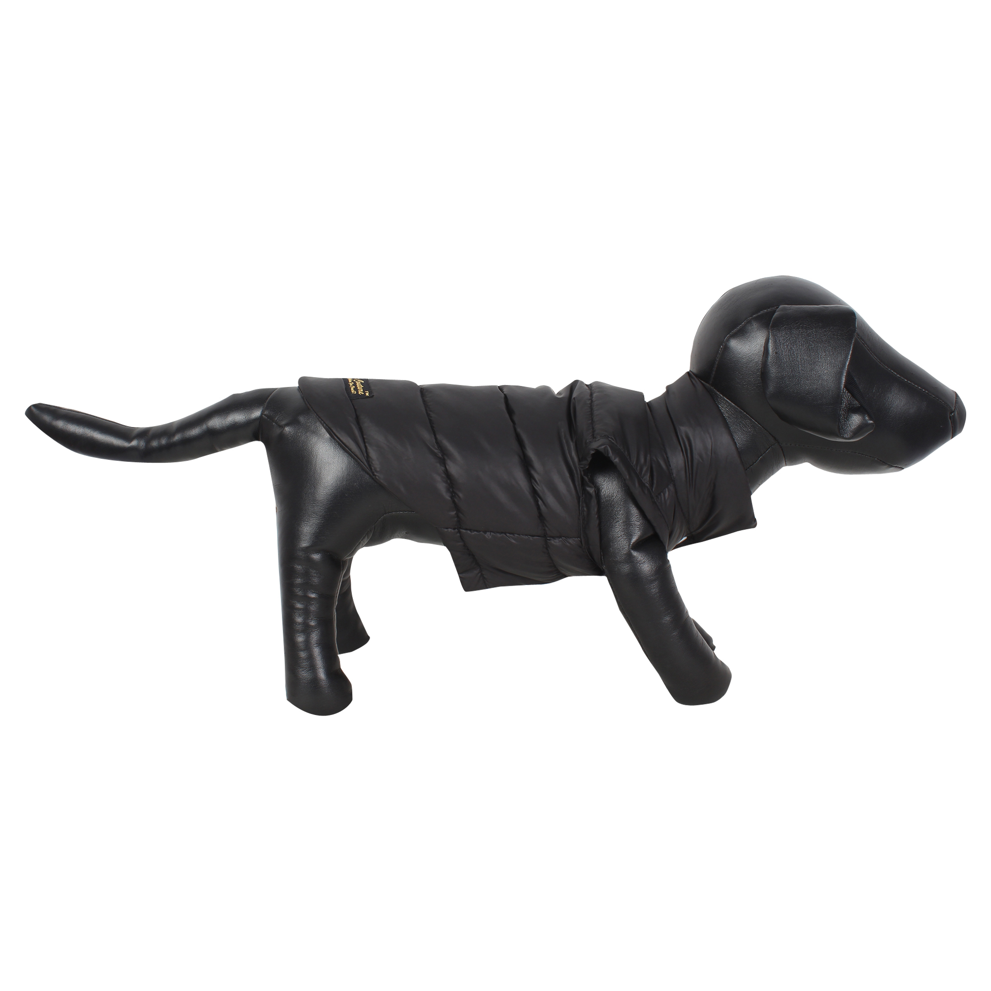 DOUGE COUTURE DOG COLD WEATHER PUFF COAT BLACK
