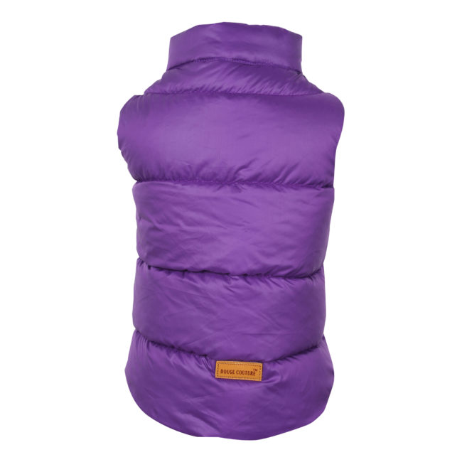 DOUGE COUTURE DOG COLD WEATHER PUFF COAT PURPLE