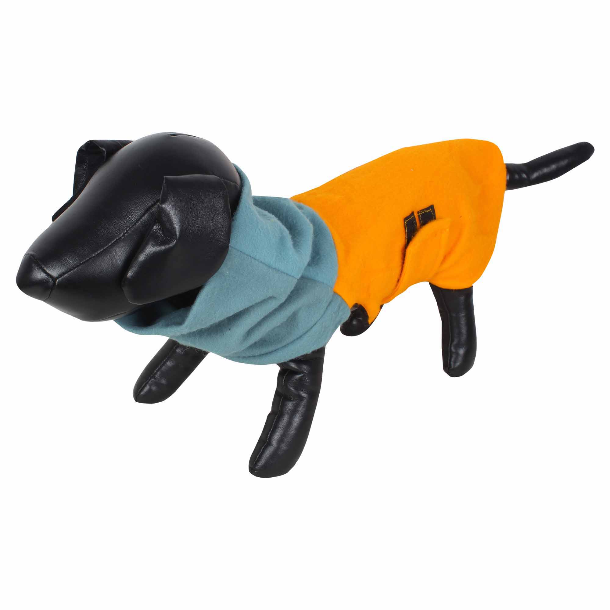 DOUGE COUTURE DOG HIGH NECK FLEECE WARM COATS MUSTARD COLOR