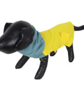 DOUGE COUTURE DOG HIGH NECK FLEECE WARM COATS YELLOW COLOR