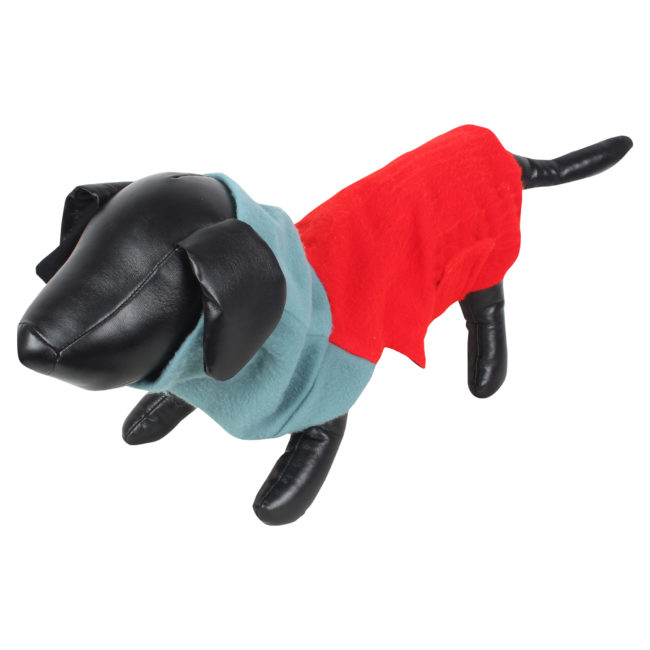 DOUGE COUTURE DOG HIGH NECK FLEECE WARM COATS RED COLOR