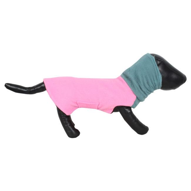 DOUGE COUTURE DOG HIGH NECK FLEECE WARM COATS PINK COLOR
