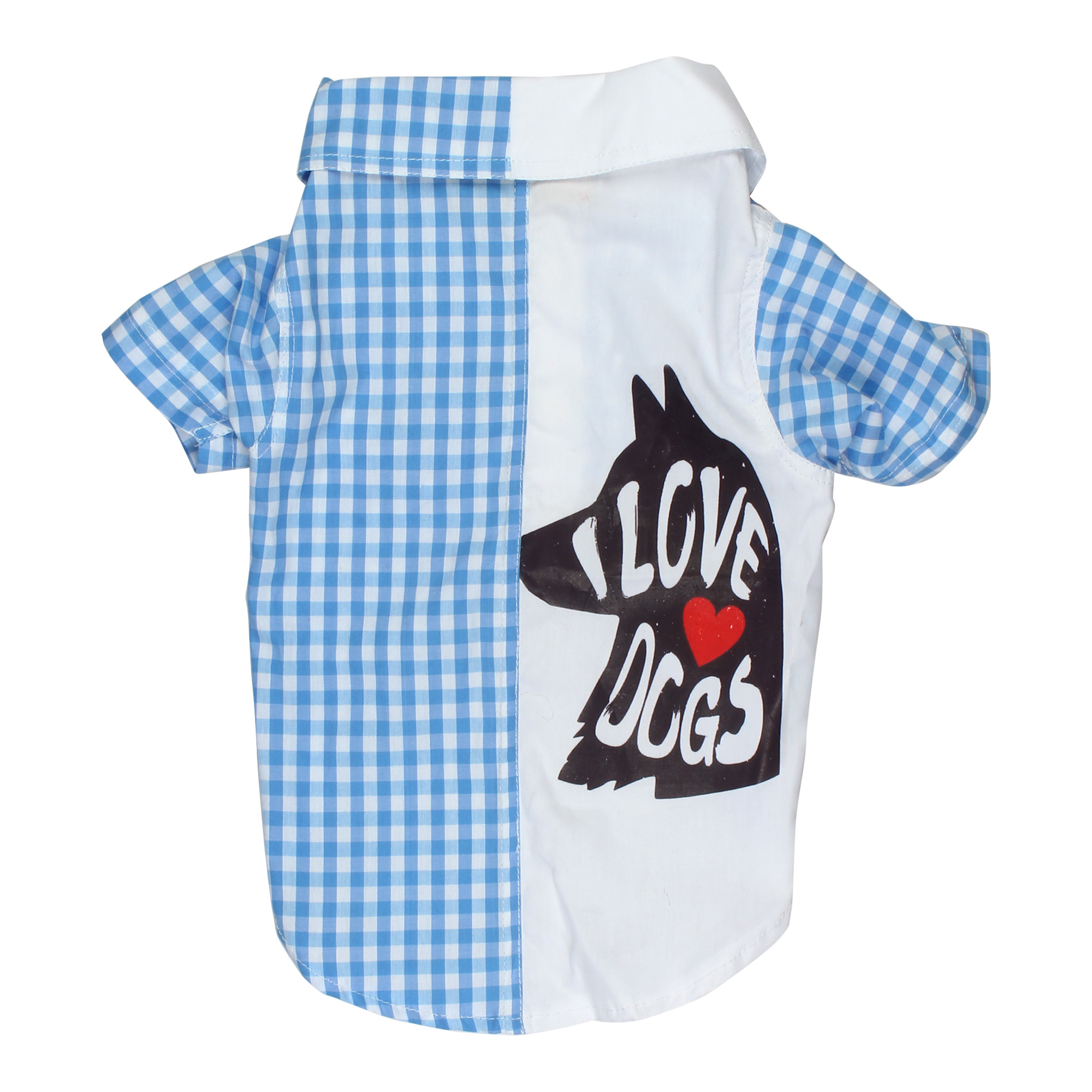 Douge Couture smart white blue check shirt