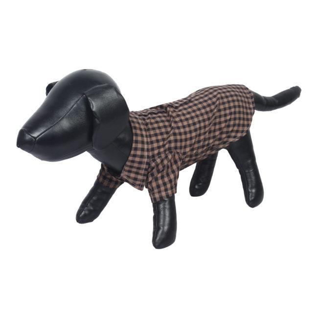 Douge Couture Pet Clothes, cotton brown check