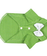 Douge Coutre brifht Green color check with white smart bow