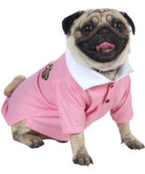 douge couture pink color polot-shirt with patch