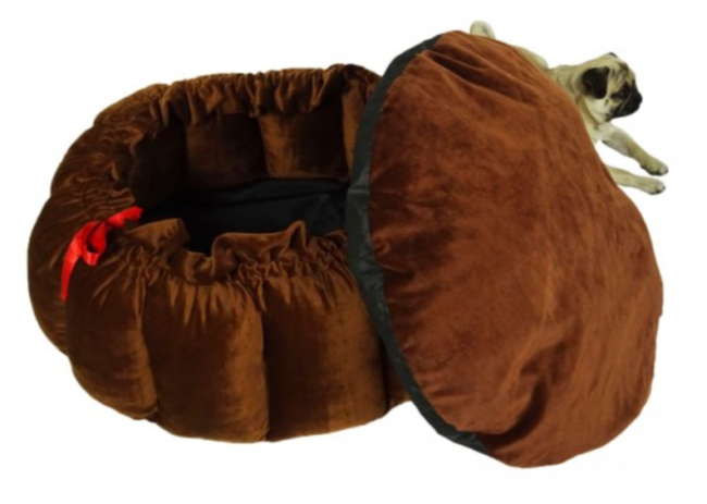 Douge Couture Butter Cup Dark brown bed