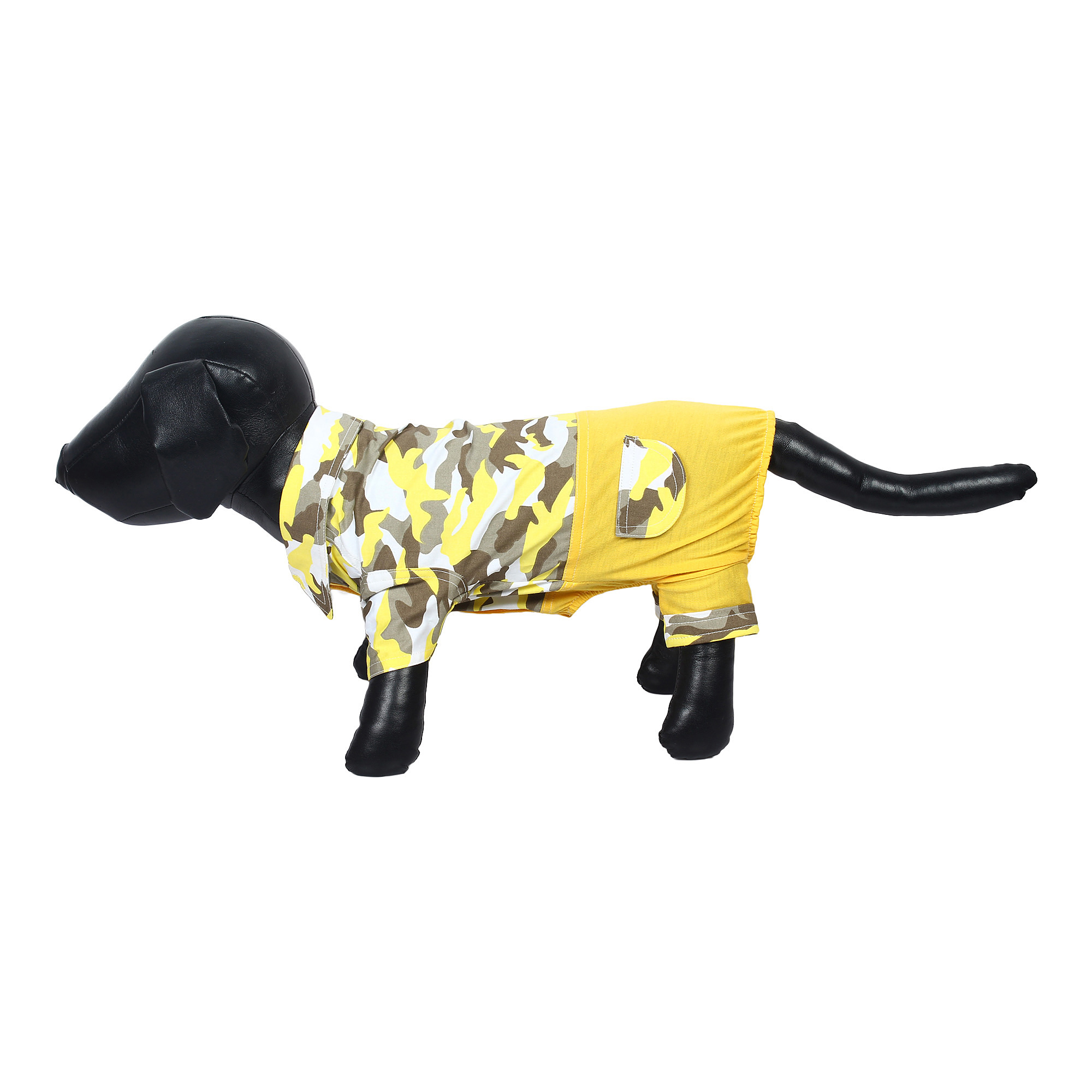 Douge Couture stylish yellow Army jumpsuit for dog/cats