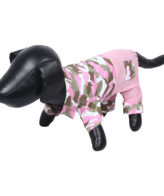 Douge Couture stylish pink Army jumpsuit for dog/cats