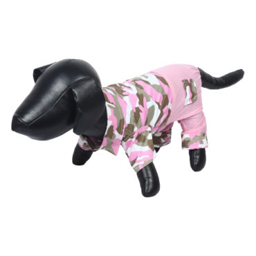 Douge Couture stylish pink Army jumpsuit for dog/cats 2