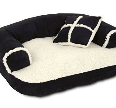 Douge Couture Soft Sofa Bed, Off-White/Black 2