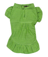 Douge couture dog/cat smart green check dress(back to school)