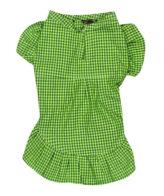 Dog Clothes smart green check dress