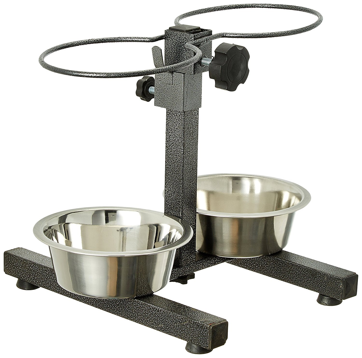 Douge couture Stainless Steel Double Diner Food Bowl Stand for Dog