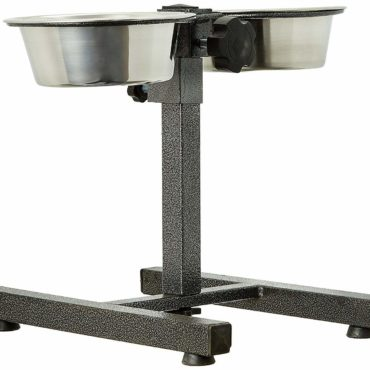 Douge couture Stainless Steel Double Diner Food Bowl Stand for Dog 1