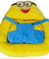 Dog Bed Fluffy Minion Cartoon Bed, Yellow/Blue