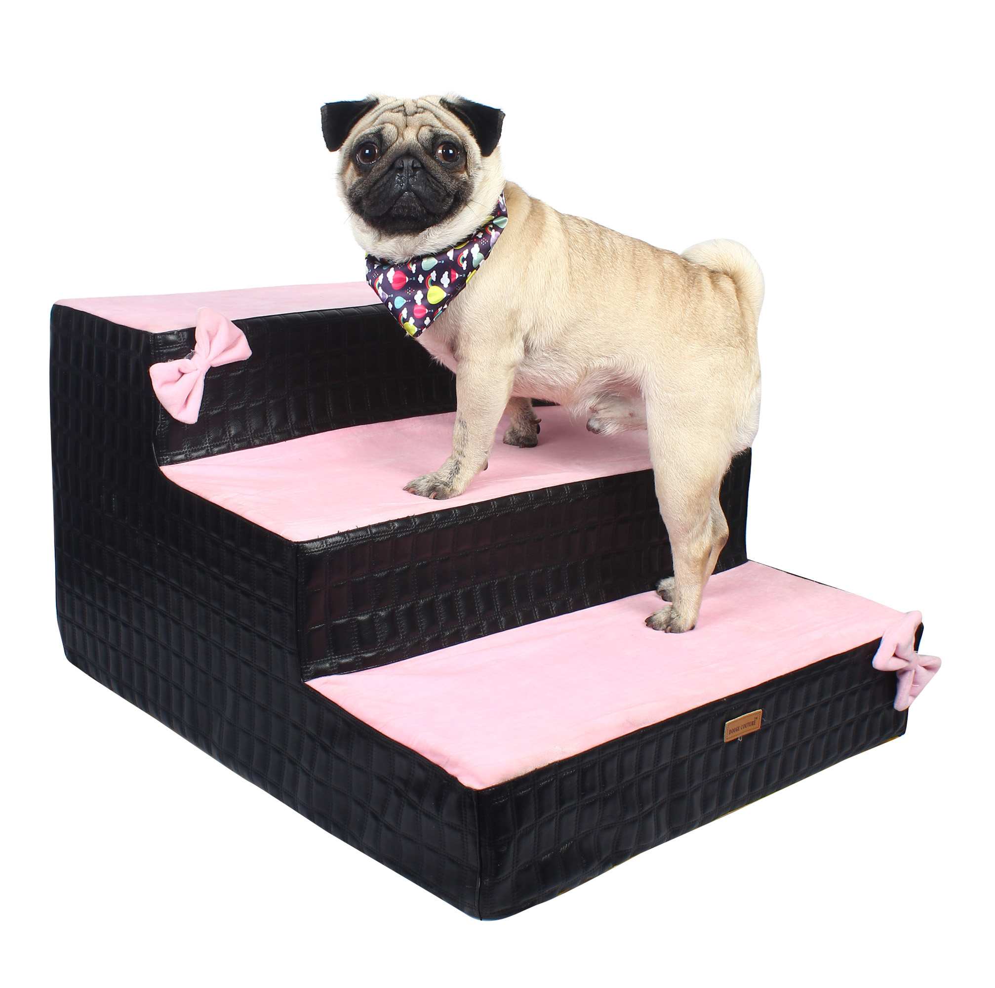Dog stairs Steps Ramp Ladder black& pink
