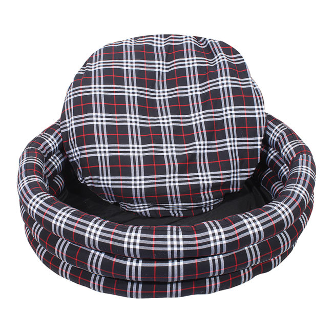 Douge Couture Black Round Dog Bed