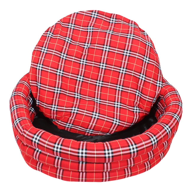 Douge Couture Red Round Dog Bed