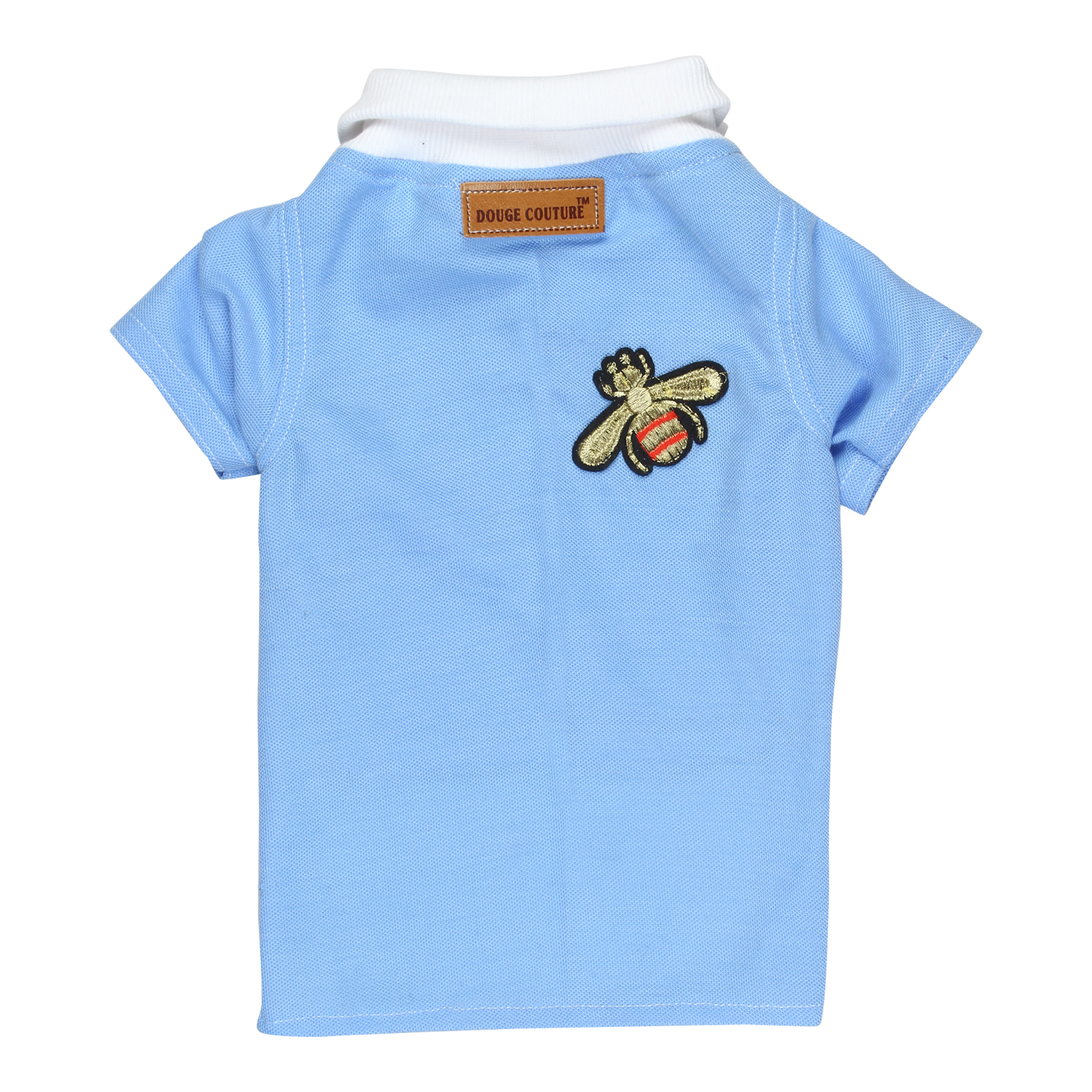 douge couture sky blue color polot-shirt with patch