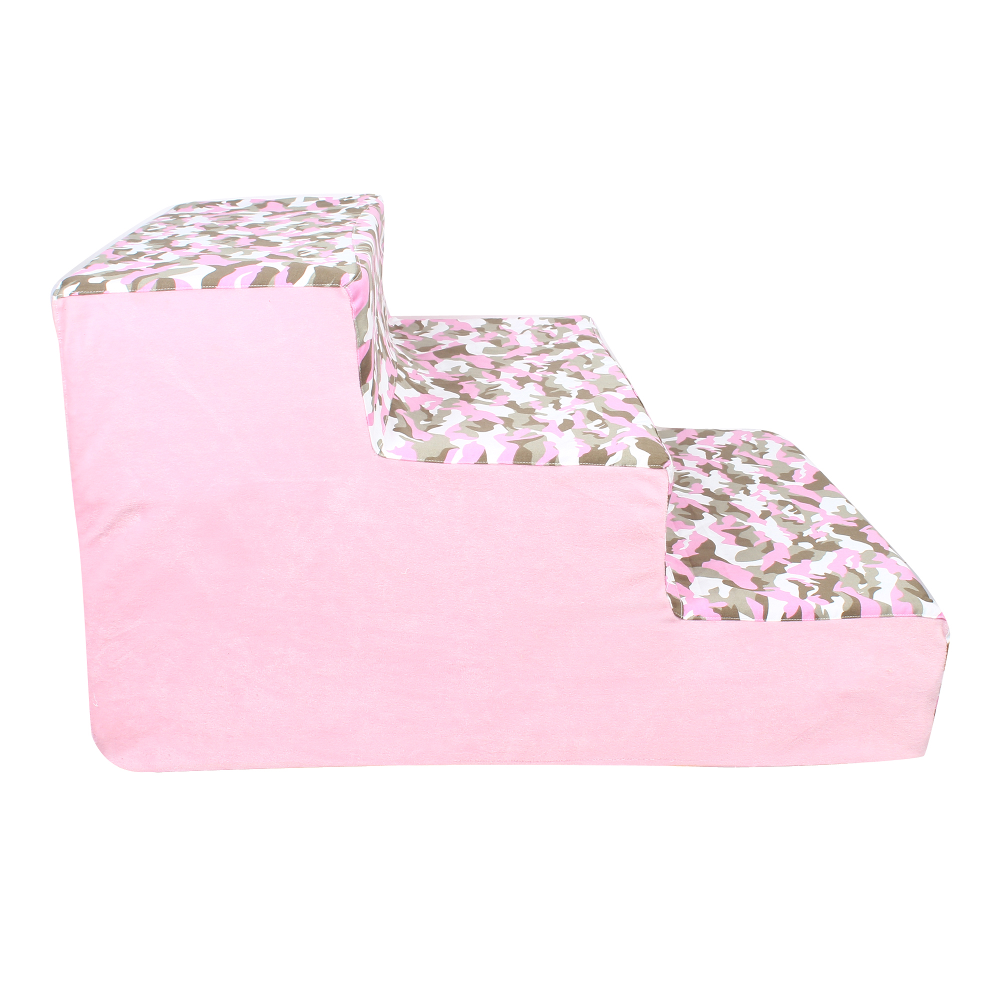 Douge Couture dog/cat stairs/ladder3 Steps Ramp Ladder pink army print
