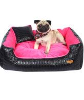 Douge couture dog/cat bed snoozer lounger blackpink color