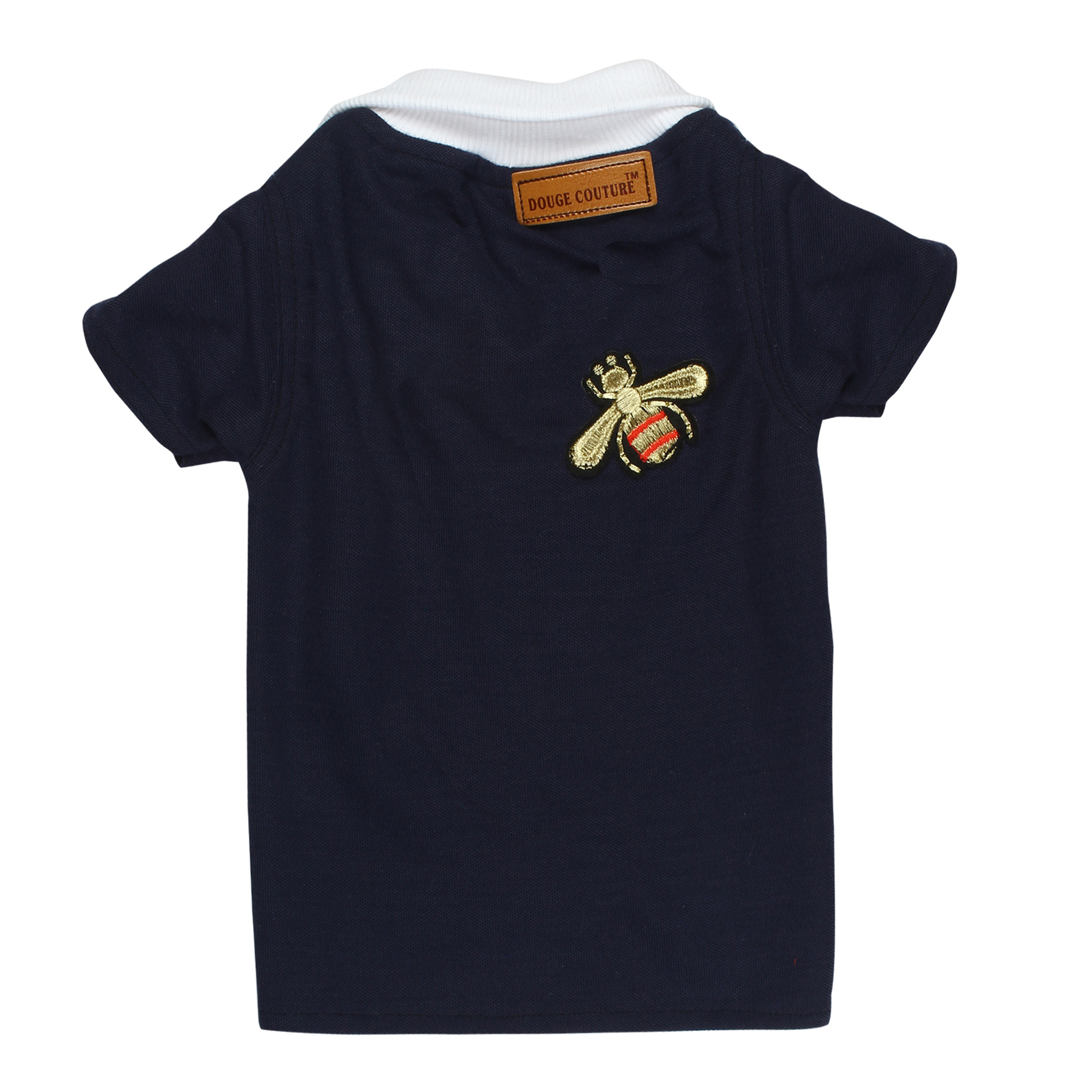 douge couture navy blue color polot-shirt with patch