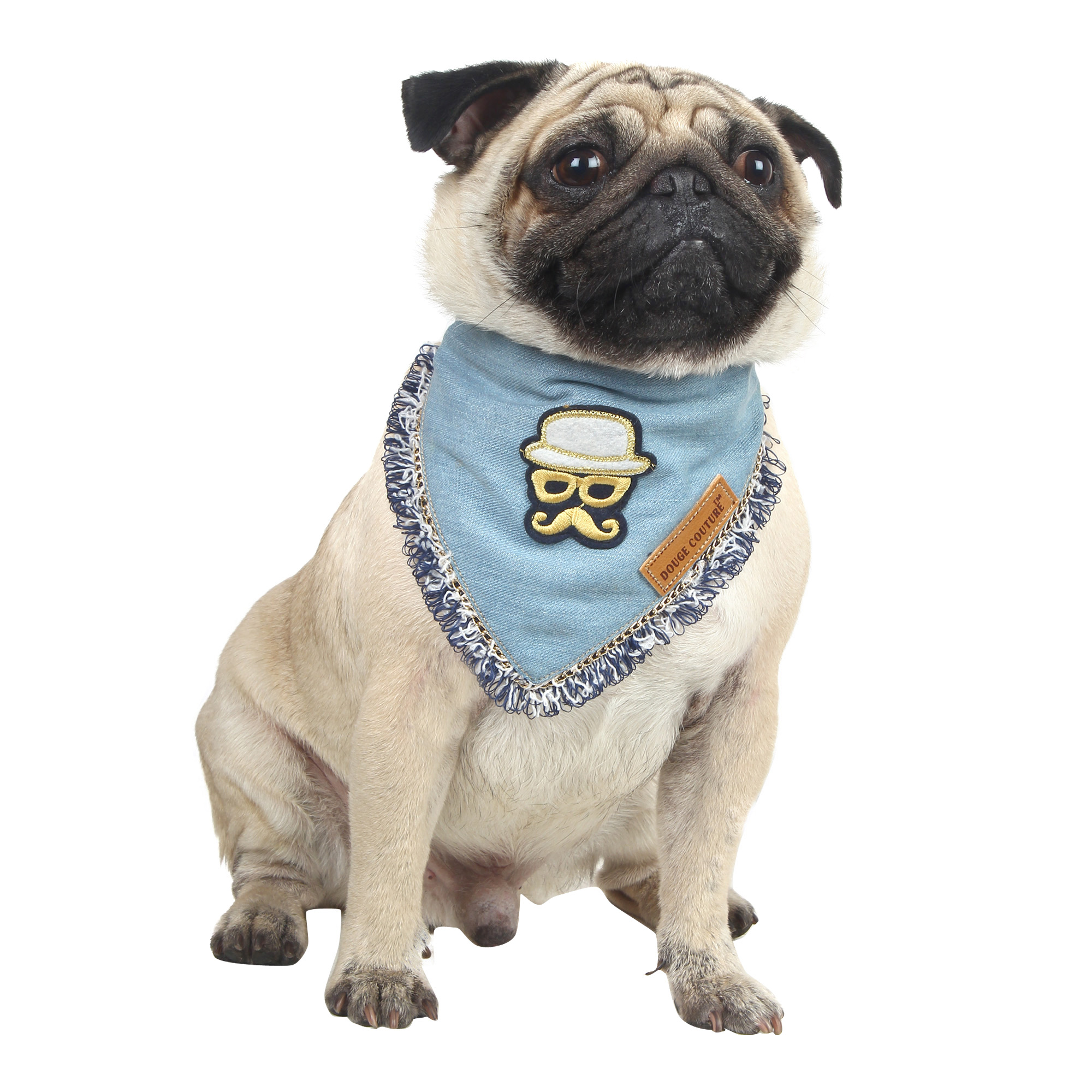 Douge couture cool bandana, with smart patch for dog/cat 1
