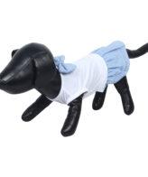 Dog Clothes female dog/cat dress blue stripe