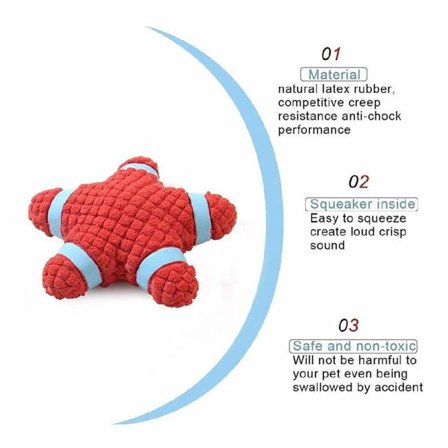 Douge couture STAR Pet Dog Squeaky Star Toy Chew Toy Chew Squeaky Toy