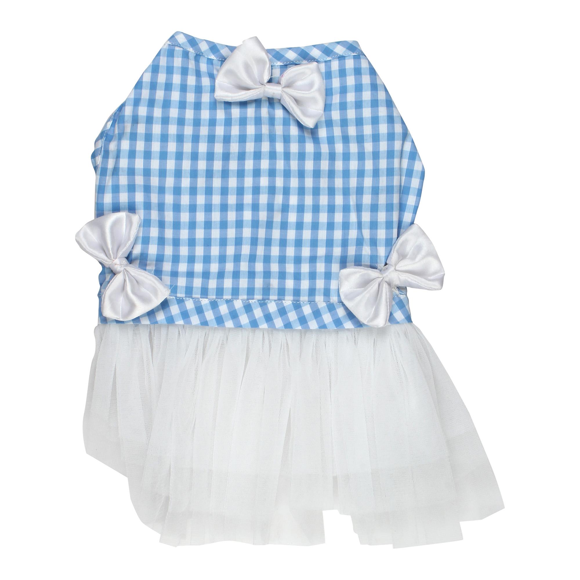 Douge Coutre blue check ultra cute dog/cat dress